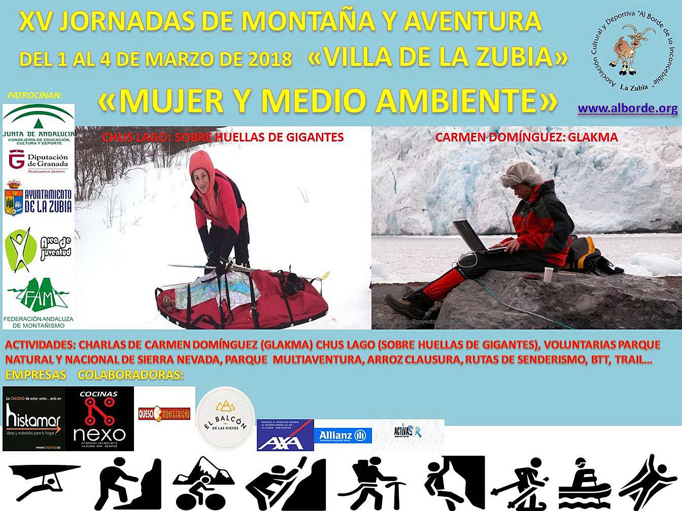 """XV JORNADAS DE MONTAÑA Y AVENTURA """"MUJER Y MEDIO AMBIENTE"""""""